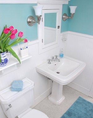 cute bathroom idea for small space