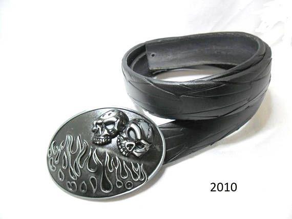 Handmade Damen / Herrengürtel aus recyceltem Fahrradreifen