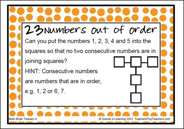 Brain Teasers Math - Brain Teasers