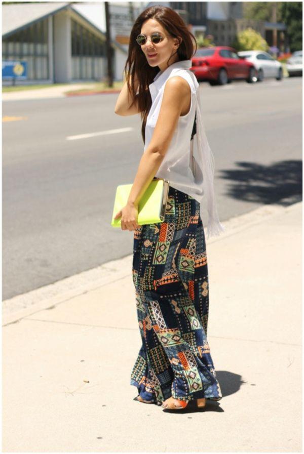 pantalon fluide palazzo en couleurs super radiantes