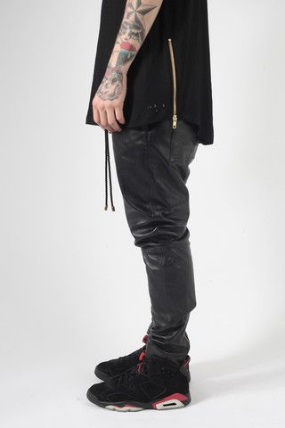 Full leather joggers