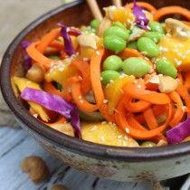 Raw Sunshine Noodle Bowl #detox #zoodle #vegan