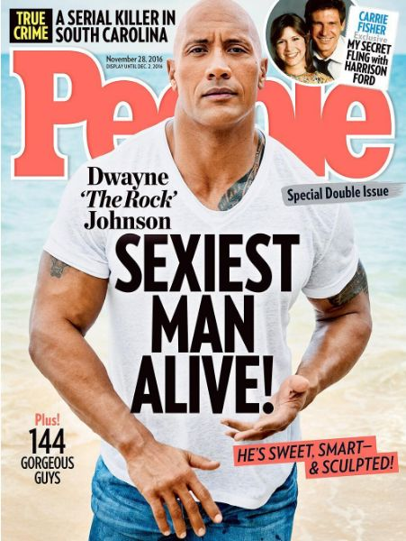 Dwanye Johnson who is Forbes highest earning actor 2016 has just been named the sexiest man alive by People magazine..Agree?