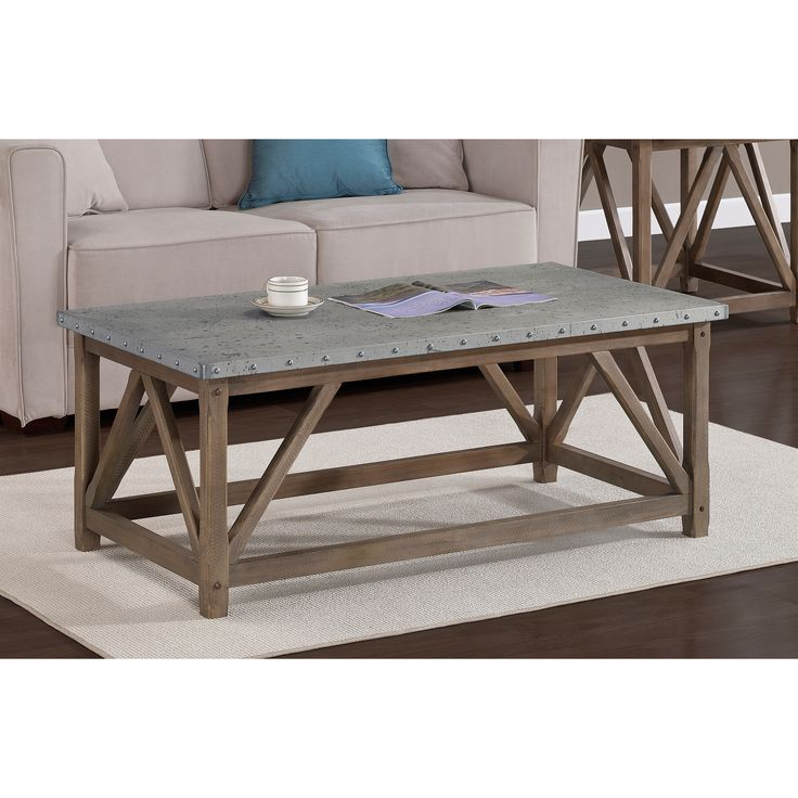 Zinc Top Bridge Coffee Table - Overstock Shopping - Great Deals on Coffee, Sofa & End Tables