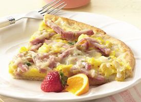 Ham & Chile Brunch Pizza Recipe - Tablespoon
