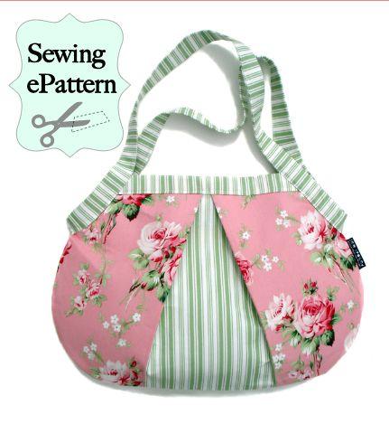 Foldaway Tote - Pink & white Bow pattern by VIDA VIDA 3rJqCWJ