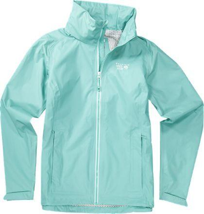 Mountain Hardwear Women's Plasmic Ion Rain Jacket Spruce Blue XL