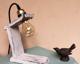 Handmade concrete pipe lamp by MadBearsManufactory on Etsy