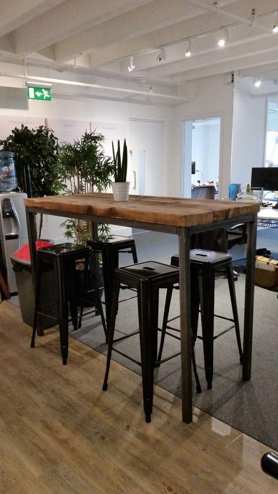 Zurückgewonnen Industrie Chic 6 8 Sitzer hoch Poseur Tisch