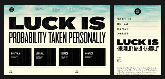 30 Creative Examples of Responsive Web Design | Inspiration