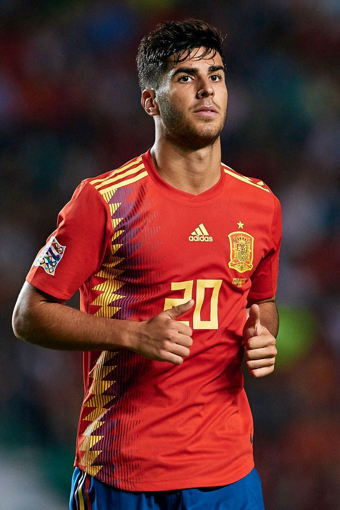 Marco Asensio of Spain looks on during the UEFA Nations ...