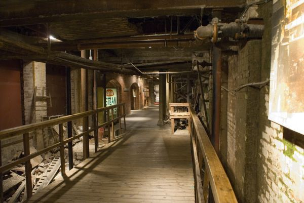 Seattle Underground (it was ground level when the city originated in the mid-19th century).