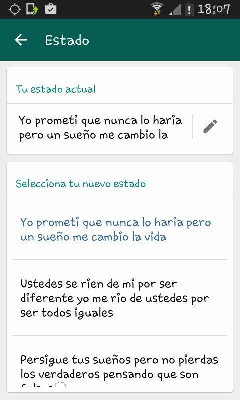 Estado de whatsapp                                                                                                                                                                                 Más