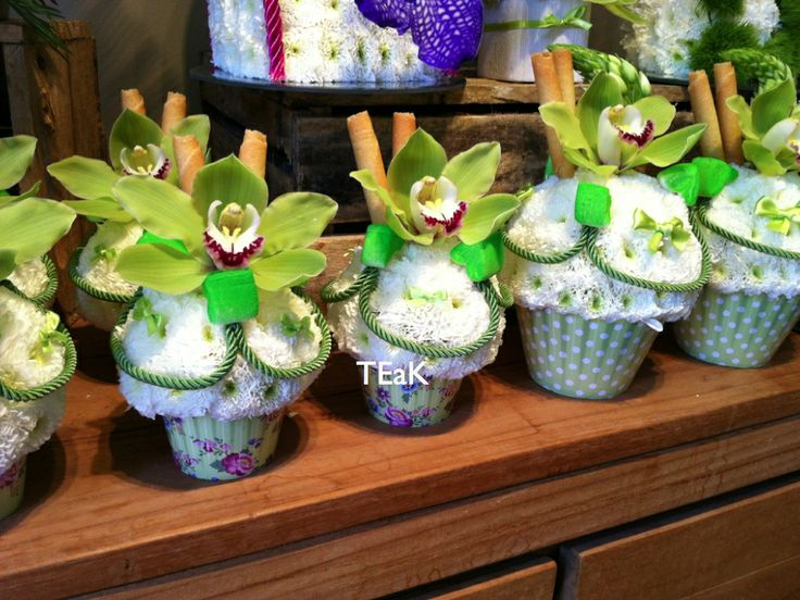 Cup cake Flowers