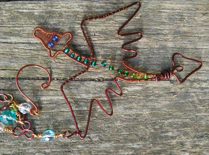Wire wrap dragon. Drátovaný drak.