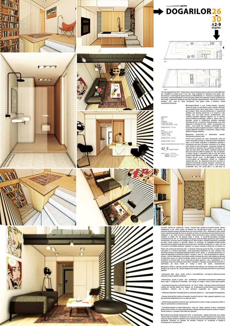 50 m2 duplex interior design competition ,1st place jury award