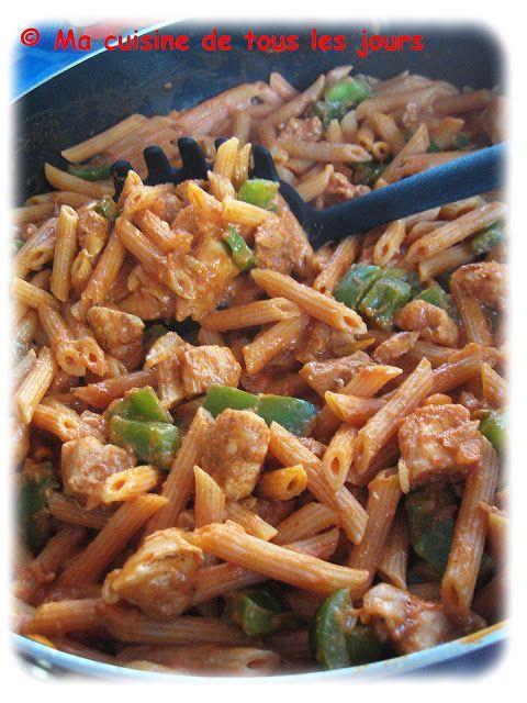 Ma cuisine de tous les jours: Penne au poulet fajita (one pot)