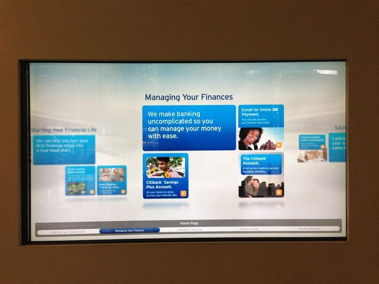 Bank touchscreen