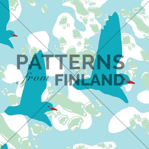 Ilana Vähätupa: Saaristo – Luoto #patternsfromagency #patternsfromfinland #pattern #patterndesign #surfacedesign #printdesign #ilanavahatupa