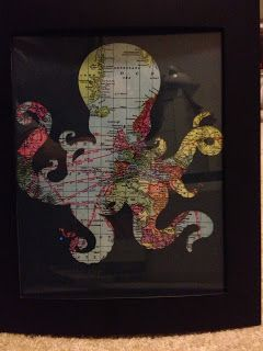 A Crafter in Chaos: Octopus Frame Print for a Pirate Room - For Mason's Pirate Play room!