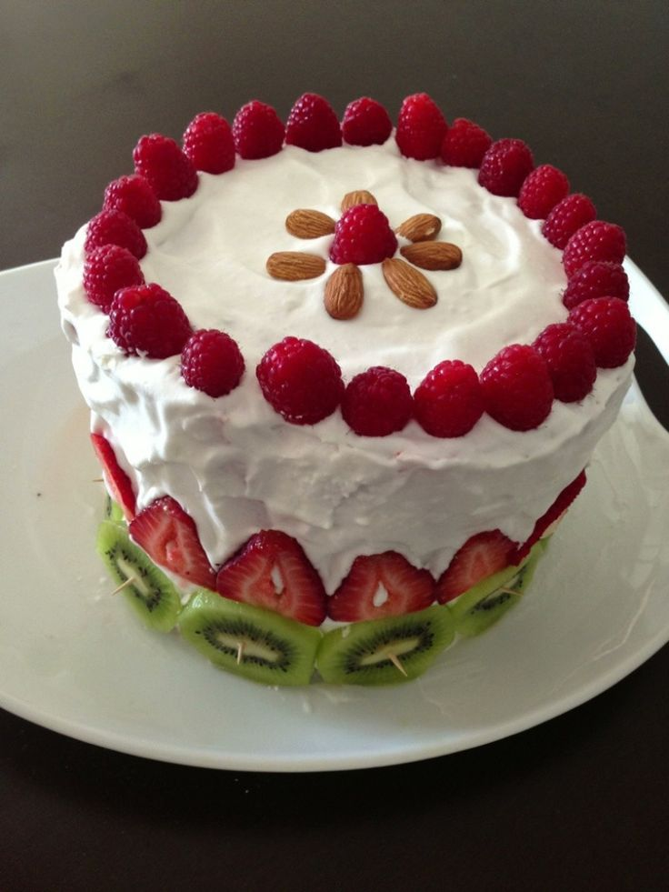 cake with fruit on top watermelon birthday cake birthday ect 2363