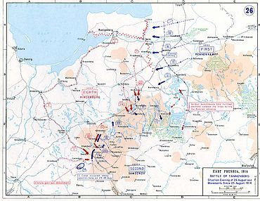 Battle of Tannenberg was between Russia and German Empires.  Russian's army was defeated that day.
