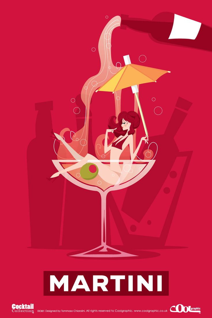 Retro graphics . . . Martini from the Cocktails Collection....réépinglé par Maurie Daboux .•*`*•. ❥