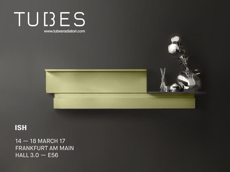 From 14 to 18 March, Tubes will be present at the ISH fair in Frankfurt inside Stand E56, Hall 3.0.  Tubes will be also in the foyer of Hall 4.2, with Origami, our radiator designed by Alberto Meda, which will be displayed in the exhibition dedicated to the Design Plus powered by ISH award winning products.  #Tubesradiatori #ISH2017 #Frankfurt #AlbertoMeda #OrigamiMeda