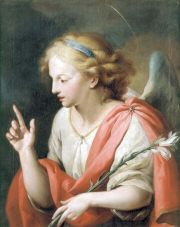 Saint Gabriel, Archangel, pray for us and ambassadors, postal workers, radio workers, telecommunications.  Feast day September 29.