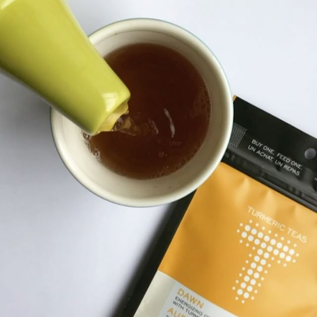 Nothing brightens up your day more than a cup of good tea with benefits. Try our Dawn tea today to feel more energizes and uplifed! Click to view more content like this! #turmericteas #turmeric #teawithbenefits #turmericbenefits #benefitsofturmeric #teas