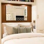 Wykorzystanie lustra w małej sypialni
