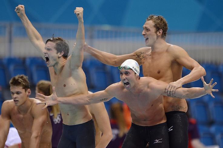 Equipe de France du relais 4x100m nage libre - JO Londres 2012
