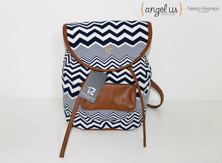 Bagpack vintage colección Angelus by Tatiana Restrepo Accesorios