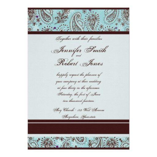 9 Best Paisley Wedding Invitations Images On Pinterest