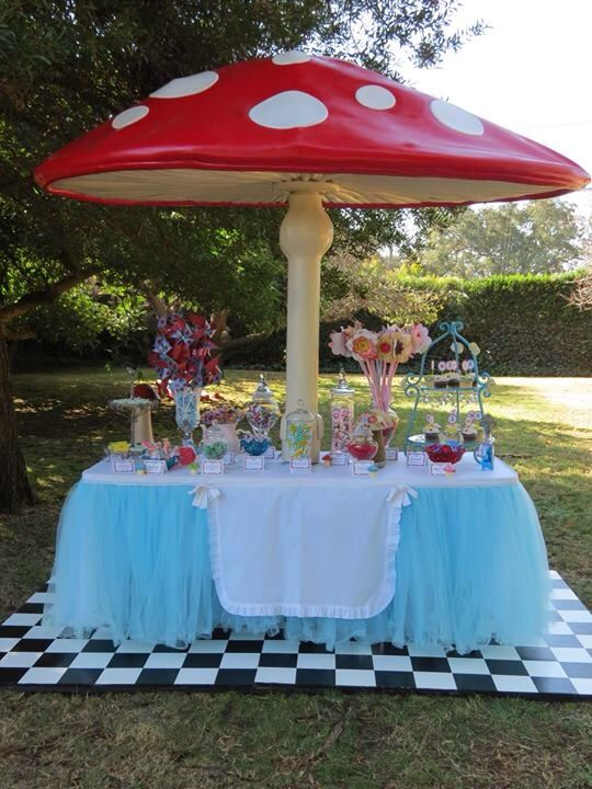 Alice's Traveling Tea Party mushroom Sweets Buffet