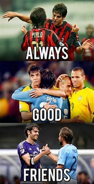 Grali razem w AC Milan, rywalami w reprezentacji, teraz rywalami w MLS • Andrea Pirlo i Kaka przyjaciółmi pomimo przeciwności >>