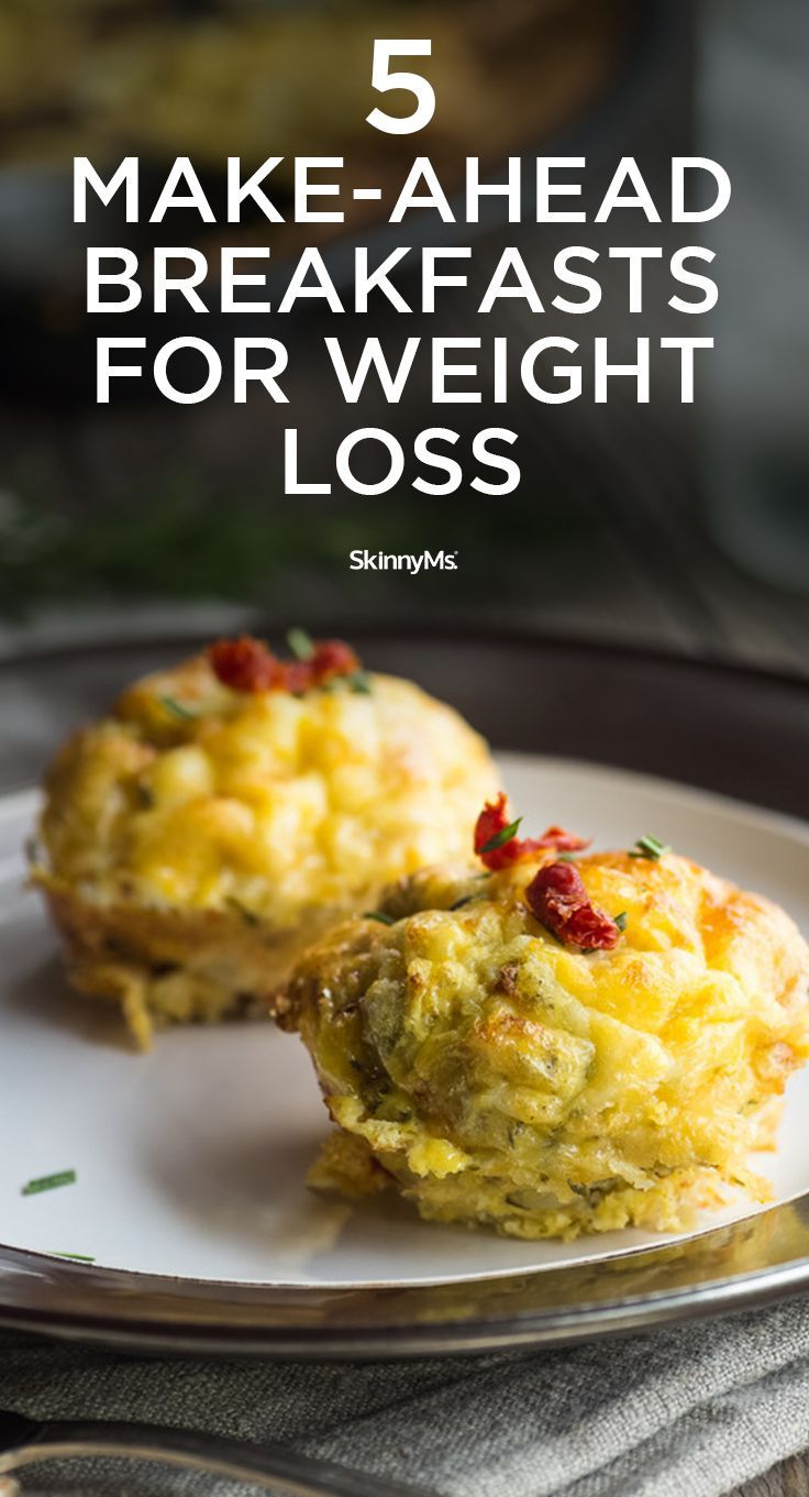 Add these 5 Make-Ahead Breakfasts for Weight Loss to your clean eating plan this week!