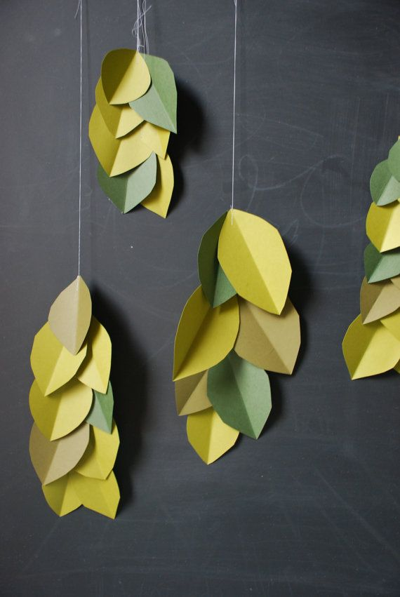 Vertical Garland Falling Leaves Set of 5 by GlitterandGrain, $18.00
