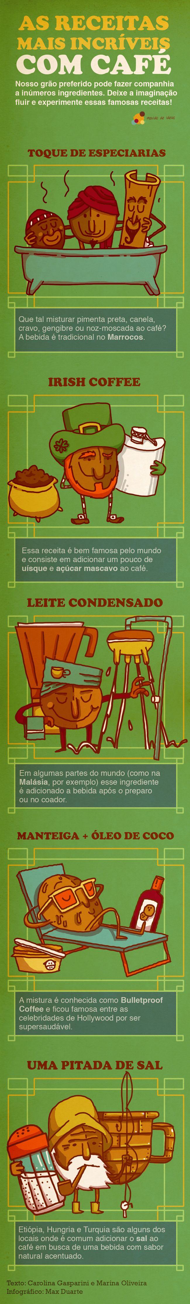 INFOGRÁFICO – AS RECEITAS MAIS INCRÍVEIS COM CAFÉ