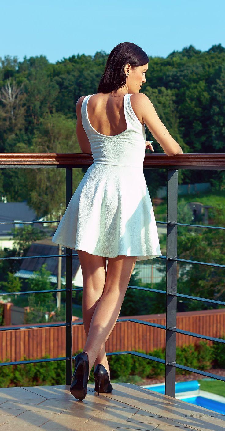 I love my little white dress #fashionblog #milapopovichblog #myoutfit #style