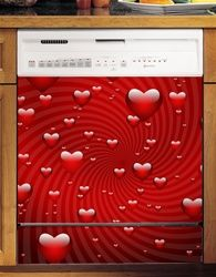 Valentines Day Hearts Custom Dishwasher Cover. Cheap Kitchen Appliances New.