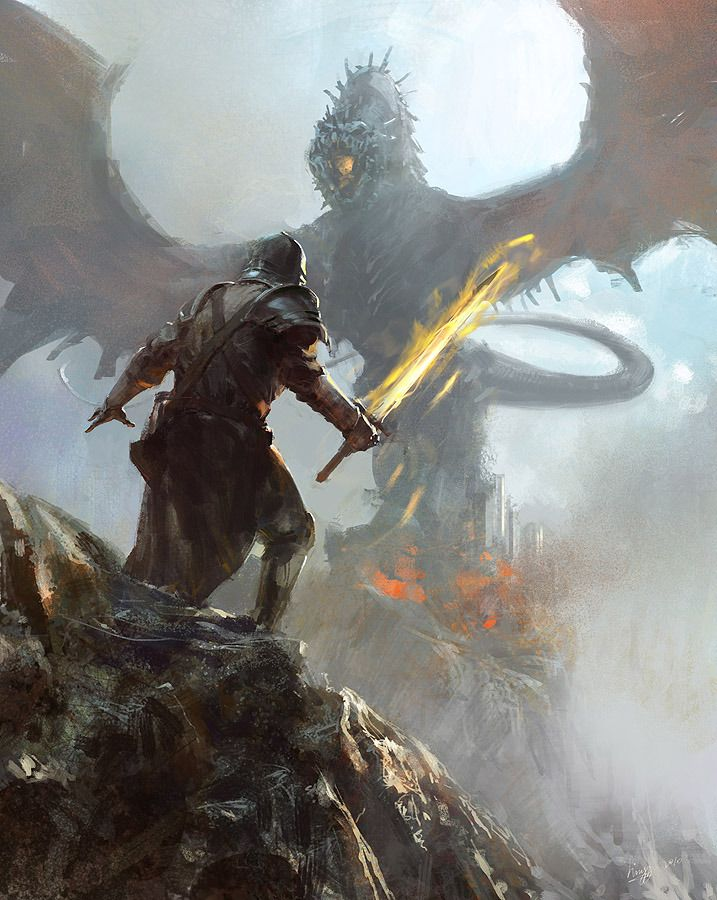 Something like this will be in it, probably no flaming sword and dragon looks different