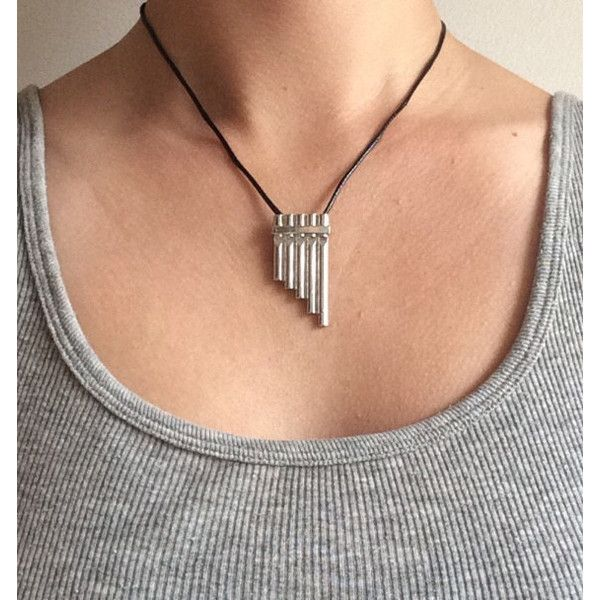 Peter Pan Flute Necklace ($10) ❤ liked on Polyvore featuring jewelry, necklaces, peter pan, once upon a time, peter pan necklace, once upon a time jewelry, peter pan jewelry and peter pan collar necklace