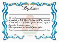 Plantillas de diplomas de reconocimiento para imprimir - Imagui
