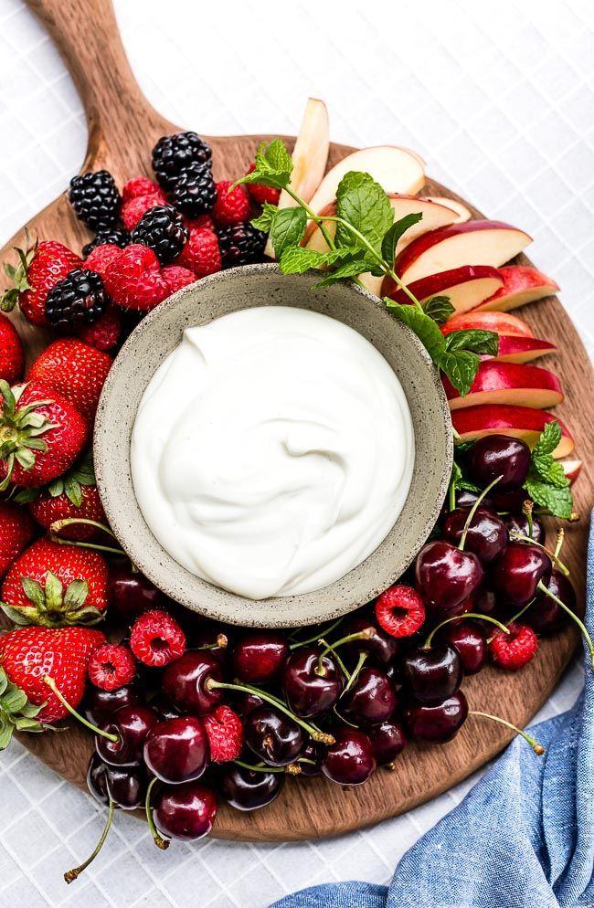 Easy Yogurt Fruit Dip Recipe 3 Ingredients Only Foolproof Living Recipe In 2020 Fruit Dip Fruit Dips Recipes Dip Recipes