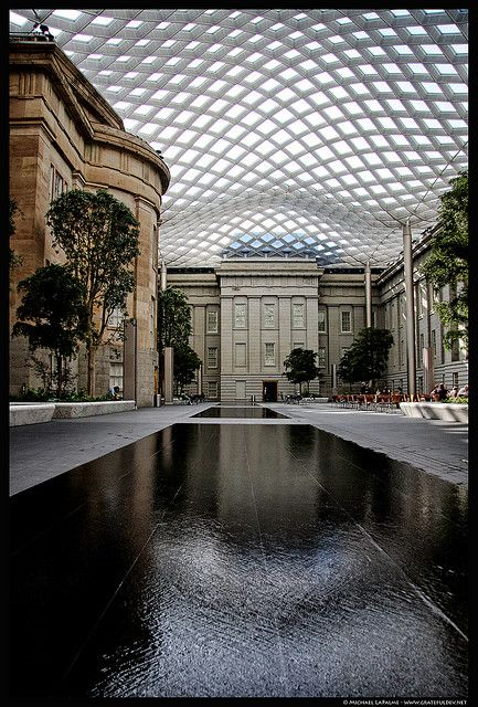 One of my fave DC spots... Kogod Cortyard at Reynolds Center (Home to National Portrait Gallery and American Art Museum)