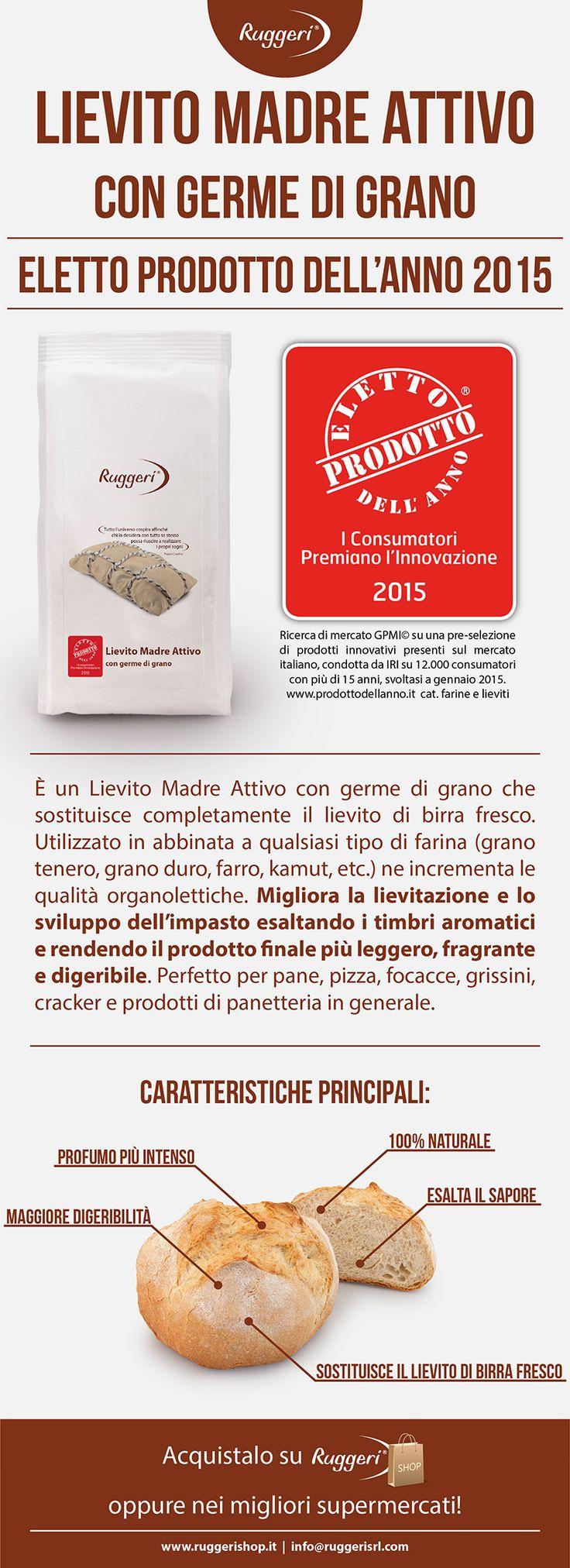 Lievito Madre Attivo con germe di grano - Eletto Prodotto dell'Anno http://www.prodottodellanno.it http://www.ruggerishop.it/it/