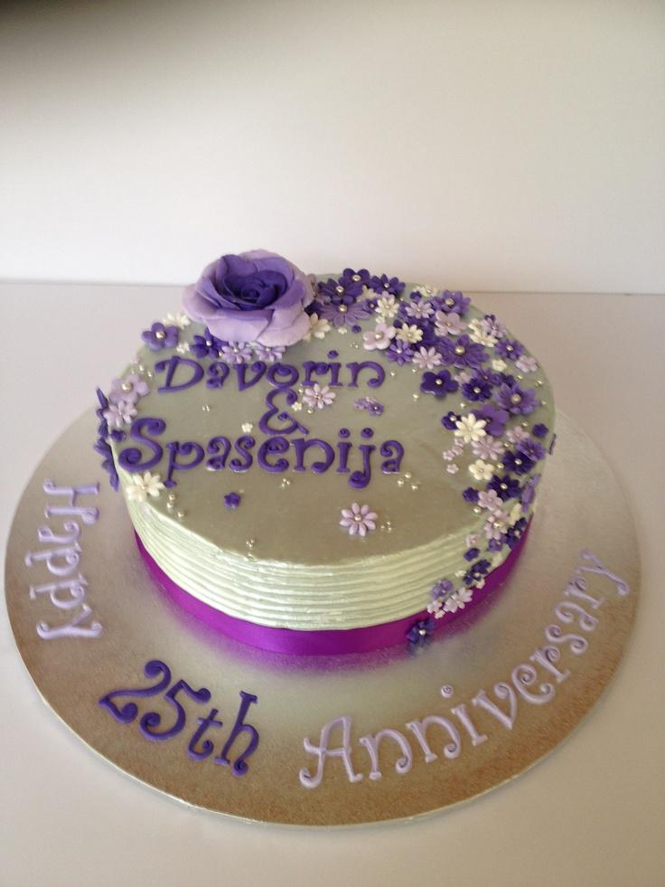 Silver Royal Icing Cake