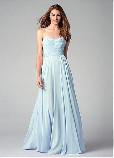 Chic Chiffon Sweetheart Neckline Floor-length A-line Bridesmaid Dress
