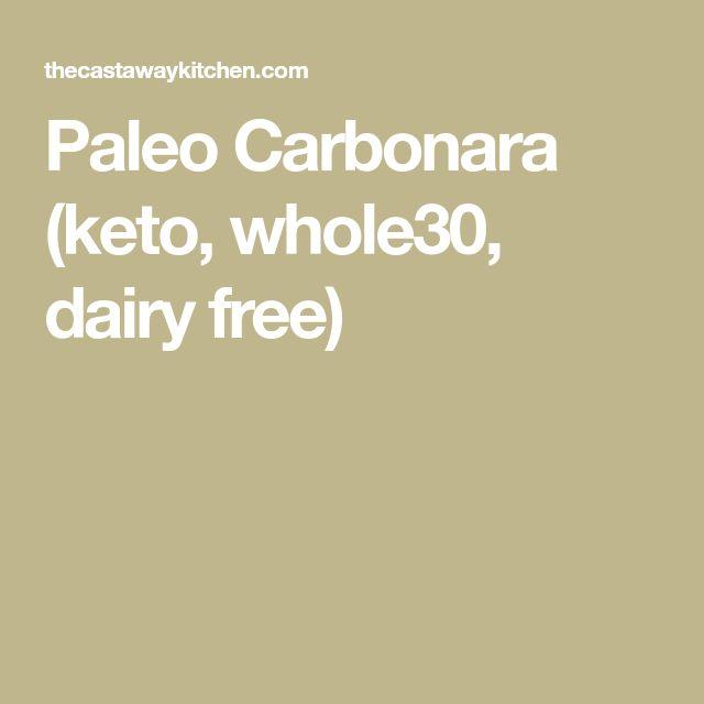 Paleo Carbonara (keto, whole30, dairy free)
